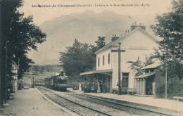 I196 - 38 - MONESTIER-DE-CLERMONT - Isère - La Gare Et Le Mont Baconnet - Otros Municipios