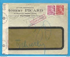 WW2 - Vienne (Poitiers) Pour GUEBWILLER (Alsace Occupée) - 1941 - Postmark Collection (Covers)