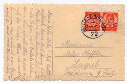 1939 YUGOSLAVIA, SLOVENIA, KORENSKO SEDLO, TPO 72  RATECE-LJUBLJANA, USED, ILLUSTRATED POSTCARD - Slovenia
