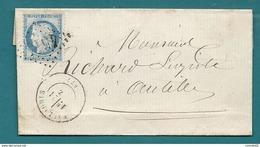 Alpes Maritimes - Vallauris Pour Antibes. GC + CàD Type 17 - 1849-1876: Classic Period