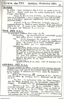GREVE DES POSTES - 1974. Laon Pour Soissons. Traité Par La CCI De St  Quentin/ De Laon - Huelga
