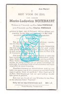 DP Maria L. Notebaert ° Ieper 1872 † 1946 X Jules Xx Charles Verfaillie - Images Religieuses