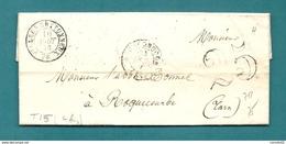 Somme - Villers Bretonneux Pour Roquecourbe (Tarn). Taxe Tampon 25 + Type 15 - Marcofilia (sobres)