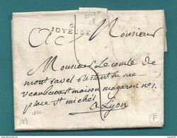 Ardèche - Joyeuse Pour Le Comte De Montravel à Lyon. MP 6/JOYEUSE. 25x6.5. - 1792-1815: Départements Conquis
