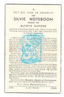 DP Silvie Noteboom ° Oedelem Beernem 1872 † 1943 X Alfons Mayens Maeyens - Images Religieuses