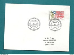 AISNE - BLERANCOURT - MUSEE DES RELATIONS FRANCO AMERICAINES. CHATEAU. 1987 - Postmark Collection (Covers)