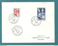 Aisne - Achery. Cachet Type A9. BUREAU RARE (auparant Correspondant Postal De LA FERE CP N° 2) - Marcofilia (sobres)