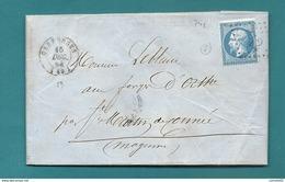 Orne - Carrouges Pour Les Forges D'Orthe Par St Martin De Connée. 1864 - Marcofilia (sobres)