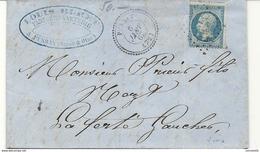 Seine Et Oise - Pussay Pour La Ferté Gaucher. GC + CàD Perlé Type 22. FABRICANT DE BONNETERIE. 1867 - Marcophilie (Lettres)