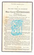 DP Cyriel Notredame ° St.-Jan Ieper 1891 † St.-Juliaan Langemark 1945 X Eugenie Hoorelbeke - Images Religieuses