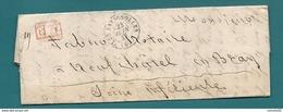 Seine - Les Batignolles Pour Neufchatel En Bray. CàD Type 15 + PP Rouge - Marcofilia (sobres)