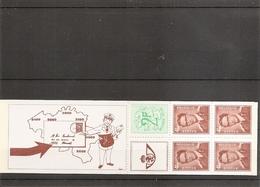 Belgique ( Carnet 9 Avec Variété 4 XXX -MNh) - Abarten Und Kuriositäten