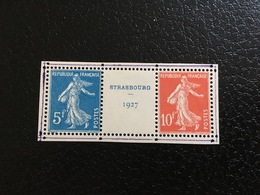 [1290] FRANCE Exposition Strasbourg 1927 Paire Timbres 242A * Semeuse TB - France