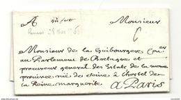 Ille Et Vilaine - Rennes Pour DE LA GUIBOURGERE Conseiller Au Parlement De Bretagne. 1708 - 1701-1800: Précurseurs XVIII