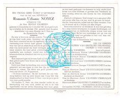 DP Romanie Urbanie Noyez ° Zonnebeke 1881 † 1960 X Benoni VanBesien / Lammers Doolaeghe Hebben Cheys Devos Collet - Images Religieuses