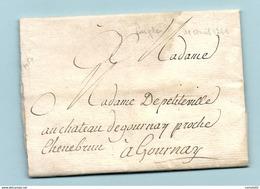 Orne - Laigle Pour Le Chateau De Gournay. LAC De 1741 - Marcofilia (sobres)