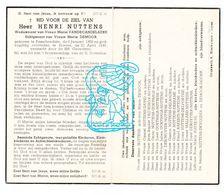 DP Henri Nuttens ° Passendale 1858 † Brielen Ieper 1949 X M. VandeCandelaere Xx M. Demoor / Tachenon Rafenti DeVolder - Images Religieuses