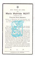 DP Marie Math. Nuyt ° Waarschoot 1867 † 1941 X Francies A. Daemers - Images Religieuses