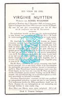 DP Virginie Nuytten ° Beselare Zonnebeke 1865 † Ledegem 1943 X Achiel Waignein - Images Religieuses
