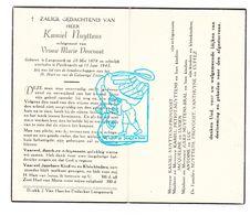 DP Kamiel Nuyttens ° Langemark 1879 † Poelkapelle 1945 X Marie Provoost / Petiot Bral VanThuyne Cuffez - Images Religieuses