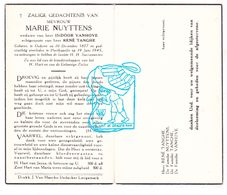 DP Marie Nuyttens ° Oekene Roeselare 1877 † Poelkapelle 1945 X I. VanHove Xx R. Tanghe - Images Religieuses