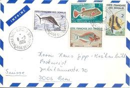 Airmail Brief  Djibouti - Bern            1966 - Costa Francese Dei Somali (1894-1967)