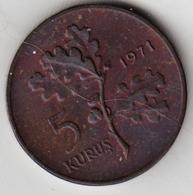 @Y@  Turkije  5 Kurus  1971    (4769) - Turquie