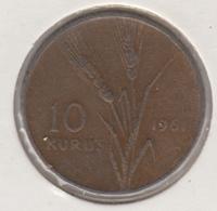 @Y@  Turkije  10 Kurus  1961    (4770) - Turquie