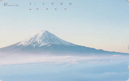 Télécarte Japon / 110-226 - VOLCAN Montagne Mont FUJI ** CARTE VIERGE ** -  Mountain Vulcan Japan Phonecard - MD 318 - Volcans