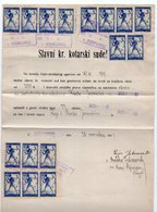 27.11.1919. KINGDOM OF SHS, ZEMUN, LAND PURCHASE CONTRACT, CHAIN BREAKERS, VERIGARI, ERROR, POSTAL STAMPS AS REVENUE - 1919-1929 Kingdom Of Serbs, Croats And Slovenes