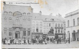 Ath NA40: Grand'Place Avec Monument 1922 - Ath
