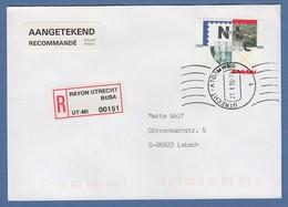Niederlande ATM Mi.-Nr. 2.1 Typ FRAMA Wert 1100 Auf R-FDC, O UTRECHT - Period 1980-... (Beatrix)