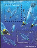 TAAF, FRENCH ANTARCTIC,  2019, MNH, PENGUINS, SHEETLET - Pinguini