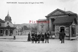 Pontarlier - Instantané, Le 6 Mai 1905. Retirage D'une Photo à Partir De La Plaque De Verre Originale. - Pontarlier