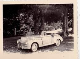Photo  : Cabriolet 203 Peugeot Décapotable Immatriculé 75  Au Col Du Chioula (09) 1956 - Automobiles