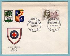 FDC France 1960 - Turenne - YT 1259 - Sedan - Blason - 1960-1969