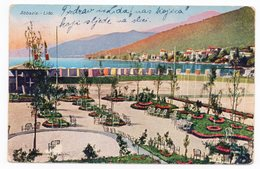 1928 ITALY, ABACIA-FIUME,SENT TO BOSNIA, ILIDZA, YUGOSLAVIA, ABACIA, LIDO, ILLUSTRATED POSTCARD, USED - Other