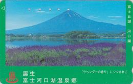 TC PARFUM LAVANDE Japon / 110-186444 -  Montagne Mont FUJI -  Mountain Japan LAVENDER PERFUMED Phonecard - 325 - Parfum
