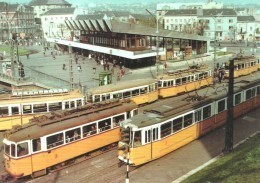 TRAM TRAMWAY RAIL RAILWAY RAILROAD UNDERGROUND STATION SUBWAY METRO * MOSZKVA SQUARE BUDAPEST * Reg Volt 0185 * Hungary - Tram