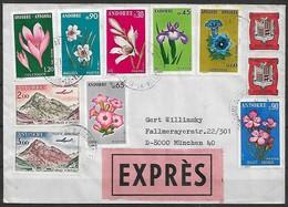 Französisch Andorra - R - Brief  21.08.1979 / Andorra La Vella Nach München 40 ( Deutschland ) / Siehe Fotos - Französisch Andorra
