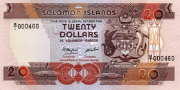 SOLOMON ISLANDS=N/D    20  DOLLARS     P-16  Low Serial        UNC - Isla Salomon