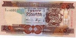 SOLOMON ISLANDS=N/D    20  DOLLARS     P-16          UNC - Solomon Islands