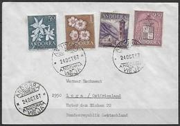 Spanisch Andorra - Brief  24.10.1967 / Andorra La Vieja Nach Loga - Ostfriesland ( Deutschland )  / Siehe Fotos - Spanisch Andorra