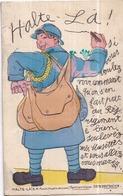 """Carte à Système Dépliant 10 Mini-vues - """"Halte-Là ! ..."""" - E.R. PARIS Édit. - Cartoline Con Meccanismi"""