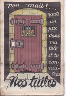 """Carte à Système Dépliant 10 Mini-vues - """"Nos Tuiles..."""" - Garde à Vos Édit. - Cartoline Con Meccanismi"""