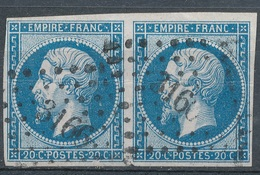 N°14 PAIRE VARIETE. - 1853-1860 Napoléon III.