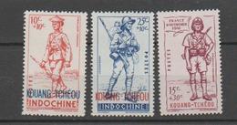 KOUANG-TCHEOU    N°  YVERT  : 135/137  NEUF AVEC  CHARNIERES      (  CH  01/48 ) - Kouang-Tcheou (1906-1945)