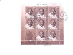 2019. Moldova,  Mahatma Gandhi, FDC With Sheetlet, Mint/** - Moldawien (Moldau)