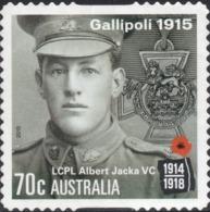 2015 Australia Gallipoli 1915 - LCPL Albert Jacka VC VF Used 70c Stamp YT No. 4133 - Oblitérés