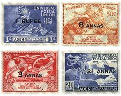 Ref. 55054 * MNH * - QU'AITI. State Of Hadhramaut. 1949. 75th ANNIVERSARY OF UPU . 75 ANIVERSARIO DE LA UPU - Yemen